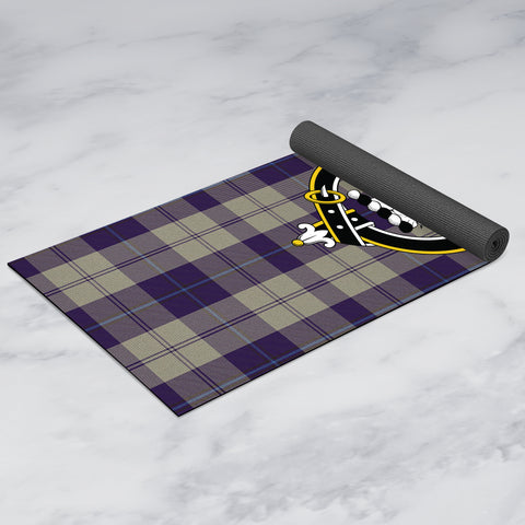Image of Cunningham Dress Blue Dancers Clan Crest Tartan Yoga mats
