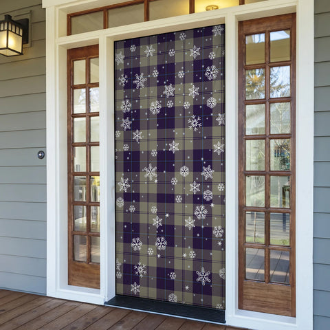 Image of Cunningham Dress Blue Dancers Christmas Tartan Door Sock Cover