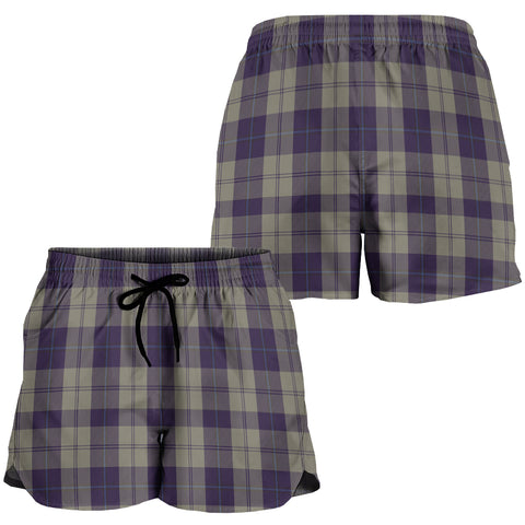 Cunningham Dress Blue Dancers Crest Tartan Shorts For Women K7
