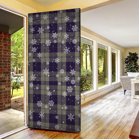 Cunningham Dress Blue Dancers Christmas Tartan Door Sock Cover