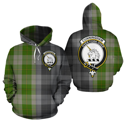 Cunningham Dress Green Dancers Clan Half Of Me New Version Crest Tartan Hoodie