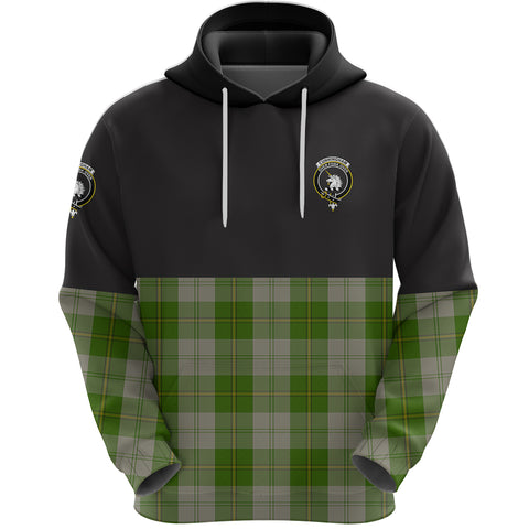Cunningham Dress Green Dancers Clan Hoodie Half Of Tartan