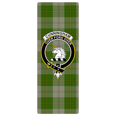Image of Cunningham Dress Green Dancers Clan Crest Tartan Yoga mats