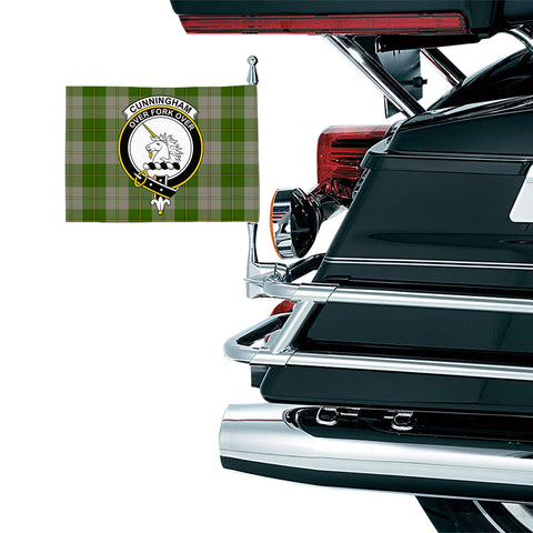 Cunningham Dress Green Dancers Clan Crest Tartan Motorcycle Flag