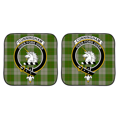 Image of Cunningham Dress Green Dancers Clan Crest Tartan Scotland Car Sun Shade 2pcs K7