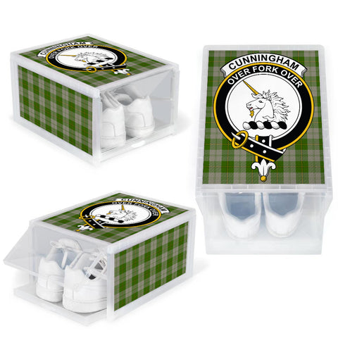 Cunningham Dress Green Dancers Clan Crest Tartan Scottish Shoe Organizers K9