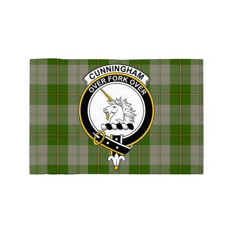 Image of Cunningham Dress Green Dancers Clan Crest Tartan Motorcycle Flag