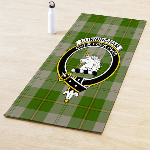 Cunningham Dress Green Dancers Clan Crest Tartan Yoga mats