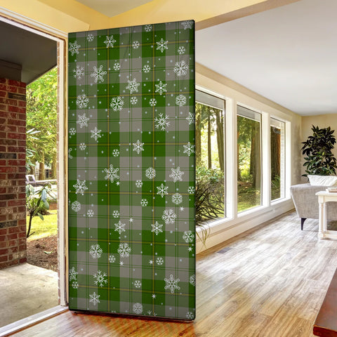 Image of Cunningham Dress Green Dancers Christmas Tartan Door Sock Cover