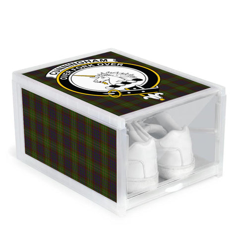 Image of Cunningham Hunting Modern Clan Crest Tartan Scottish Shoe Organizers