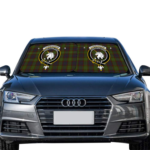 Image of Cunningham Hunting Modern Clan Crest Tartan Scotland Car Sun Shade 2pcs