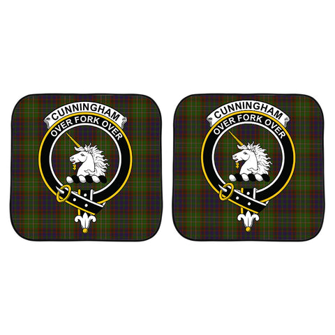 Image of Cunningham Hunting Modern Clan Crest Tartan Scotland Car Sun Shade 2pcs K7