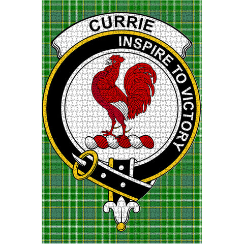 Image of Tartan Puzzle - Currie Clan Tartan Jigsaw Puzzle - BN