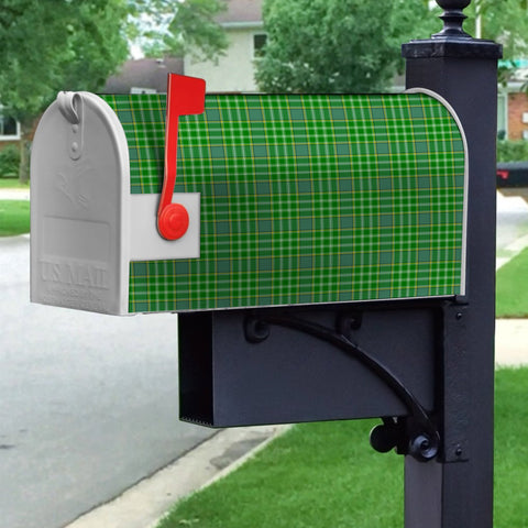 Image of ScottishClan Currie Tartan Crest Scotland Mailbox A91