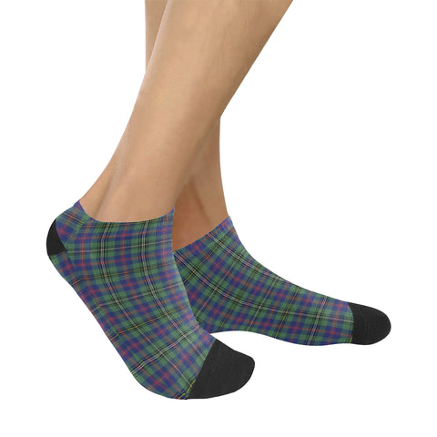 Wood Modern Tartan Ankle Socks K7