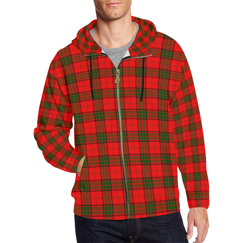 Adair Tartan Zipped Hoodie | Special Custom Products