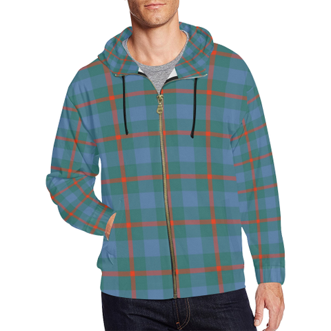 Agnew Ancient Tartan Zipped hoodie | Special Custom Products