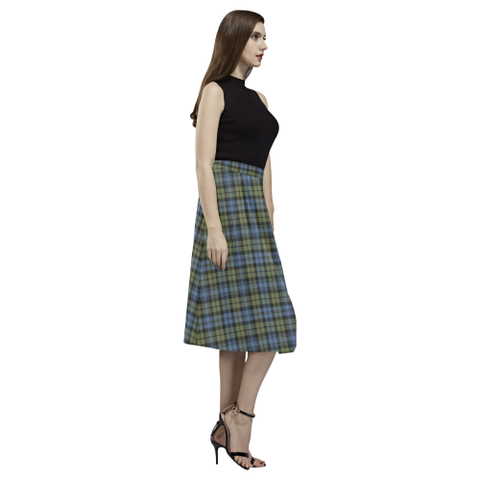 Campbell Faded Tartan Aoede Crepe Skirt | Exclusive Over 500 Tartan