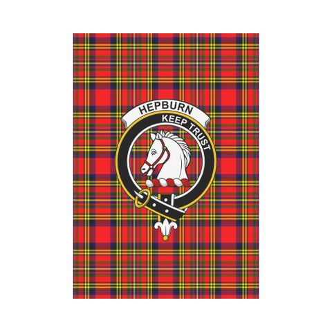 Hepburn Tartan Flag Clan Badge | Scottishclans.co