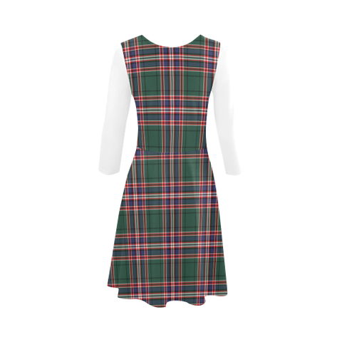 MacFarlane Hunting Modern Tartan 3/4 Sleeve Sundress | Exclusive Over 500 Clans