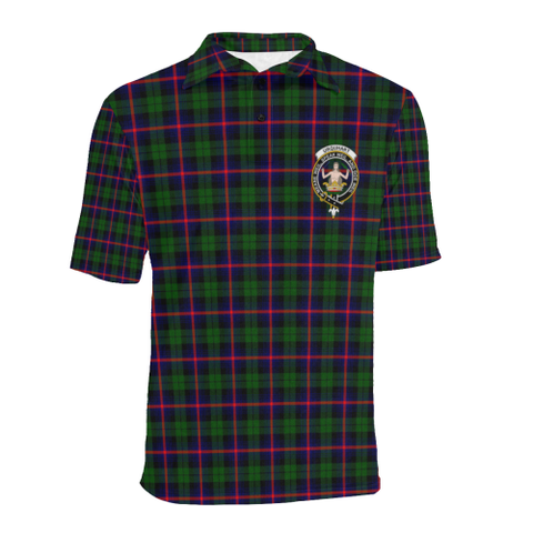 Urquhart Modern Tartan Clan Badge Polo Shirt HJ4