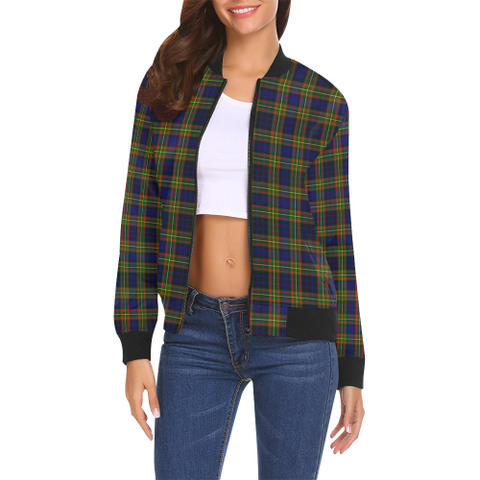Image of Clelland Modern Tartan Bomber Jacket | Scottish Jacket | Scotland Clothing