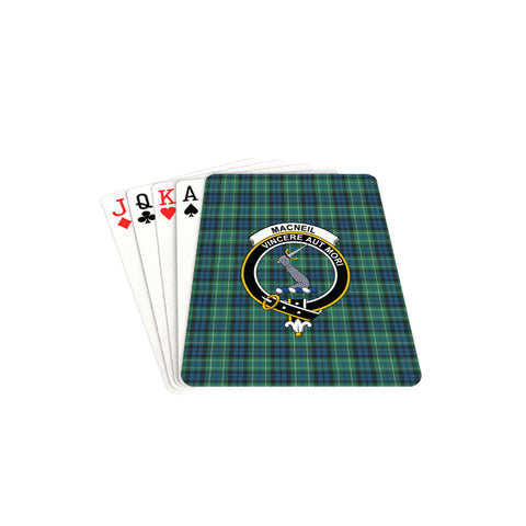 MacNeill of Colonsay Ancient Tartan Clan Badge Playing Card TH8