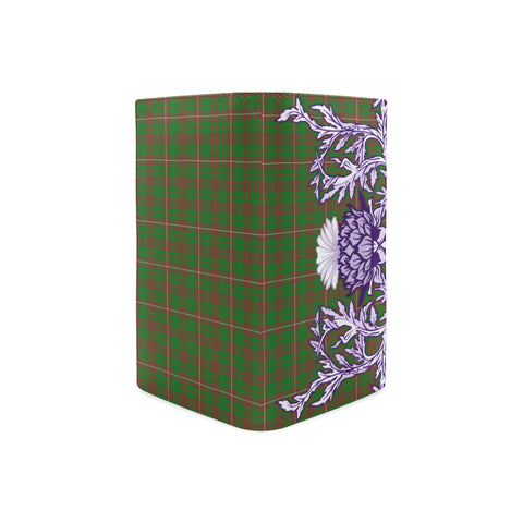 MacKinnon Hunting Modern Tartan Wallet Women's Leather Thistle A91