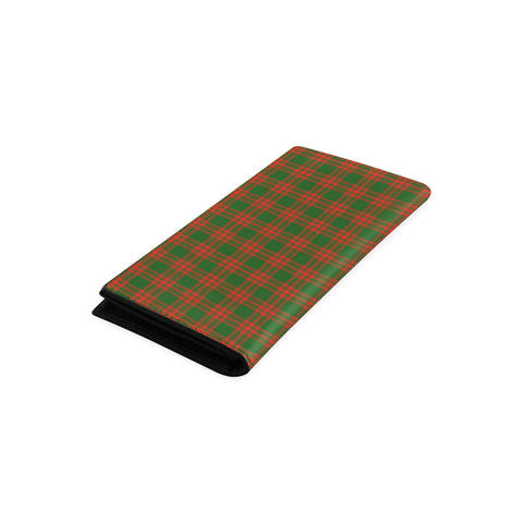 Menzies Green Modern Tartan Wallet Women's Leather Thistle A91