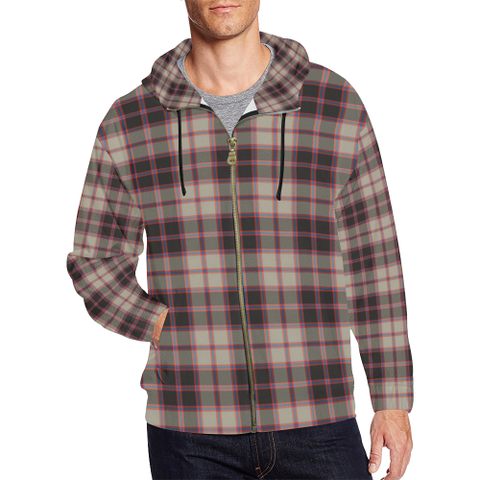 MacPherson Hunting Ancient Tartan Zipped Hoodie | Special Custom Products