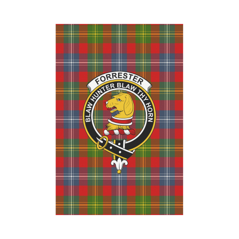 Forrester Tartan Flag Clan Badge K7