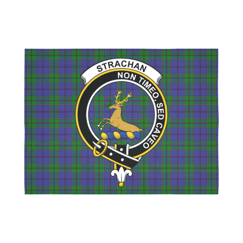 Strachan Tartan Clan Badge Tapestry
