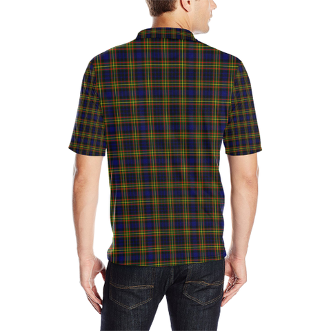 Image of Maclellan Modern Tartan Clan Badge Polo Shirt HJ4