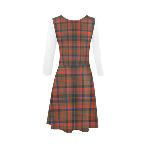 Cumming Hunting Weathered Tartan 3/4 Sleeve Sundress | Exclusive Over 500 Clans