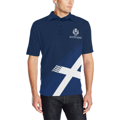 Image of Macdonald Lion Tartan Polo Shirts