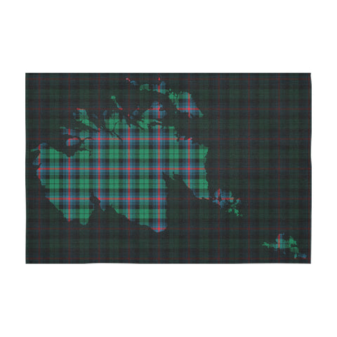 Image of Urquhart Broad Red Ancient Tartan Map Tablecloth