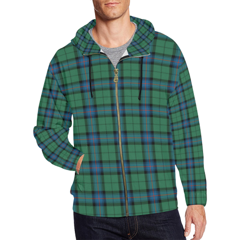 Armstrong Ancient Tartan Zipped Hoodie | Special Custom Products