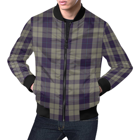 Image of Cunningham Dress Blue Dancers Tartan Bomber Jacket | Scottish Jacket | Scotland Clothing