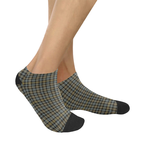 Campbell Argyll Weathered Tartan Ankle Socks K7