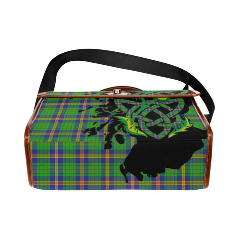 New Mexico Tartan Map & Thistle Waterproof Canvas Handbag| Hot Sale