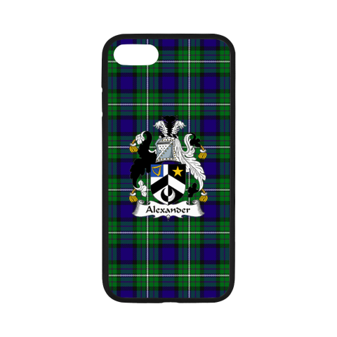 Alexander Tartan Clan Badge Rubber Phone Case TH8