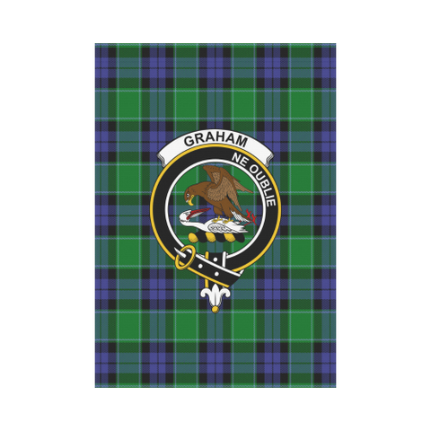 Graham Of Menteith Modern Tartan Flag Clan Badge | Scottishclans.co