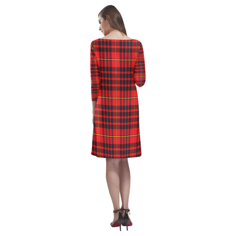 Image of Tartan dresses - Macian Tartan Dress - Round Neck Dress TH8