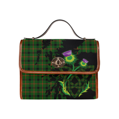Image of Kincaid Modern Tartan Map & Thistle Waterproof Canvas Handbag| Hot Sale