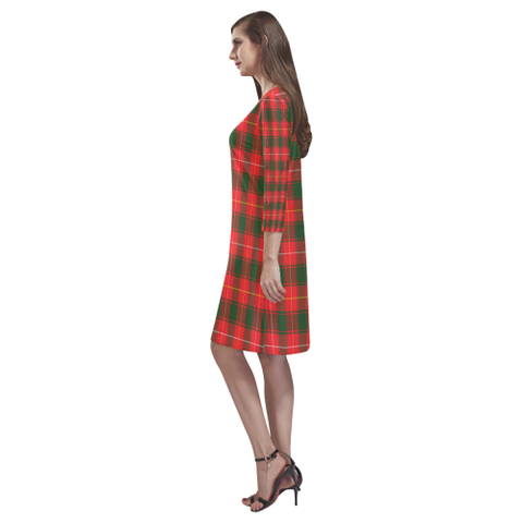 Macphee Modern Tartan Dress - Rhea Loose Round Neck Dress TH8
