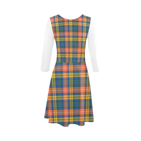 Buchanan Ancient Tartan 3/4 Sleeve Sundress | Exclusive Over 500 Clans
