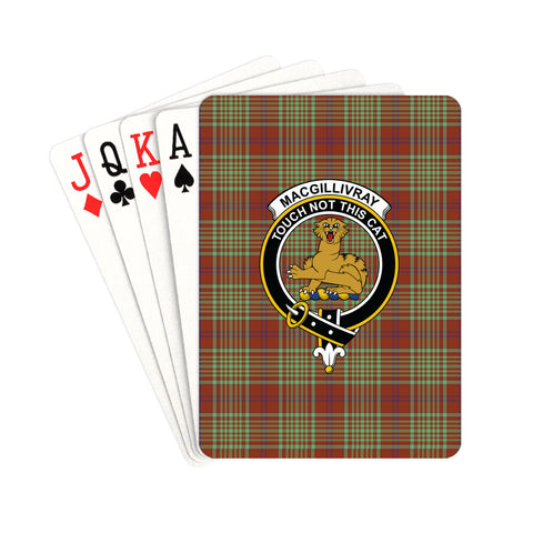 MacGillivray Hunting Ancient Tartan Clan Badge Playing Card | scottishclans.co