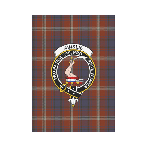 Ainslie Tartan Flag Clan Badge K7