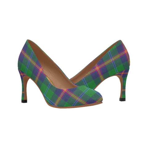 Young Modern Plaid Heels