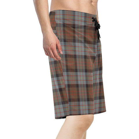 Image of Cameron of Erracht Weathered Tartan Board Shorts TH8
